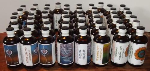 massage oils from Aquarius Flower Remedies